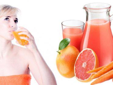 Pérdida de peso con zanahoria y jugo de pomelo