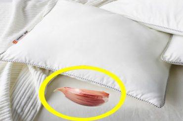 Coloca un ajo todas las noches bajo la almohada