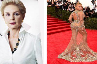 Carolina Herrera critica la nueva moda de las celebrities