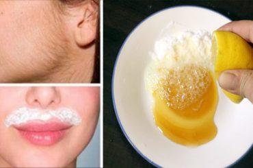 Eliminar vello facial con limón y azúcar