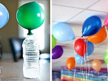 Truco para hacer volar globos sin helio