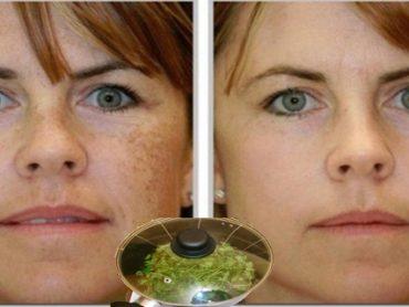 Limpiar manchas de la cara con perejil
