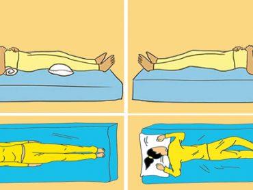 4 Posiciones para dormir y mejorar su salud