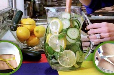 Agua de limón , pepino y jengibre para bajar de peso y barriga en 5 días