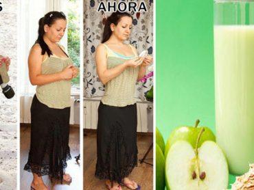 Mira como Debes Preparar un Batido de Avena , Manzana y Limón para Derretir Toda la Grasa Abdominal